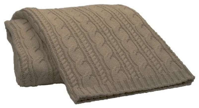 15 minute cleanup products, tan woven throw blanket