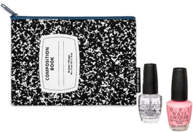 pouch and nail polish