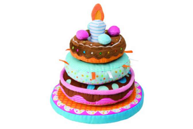 birthday cake stacking toy