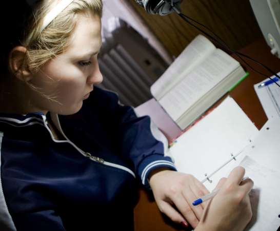 FemaleStudentStudying