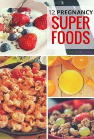 Pregnancy Super Foods Pinterest Graphic