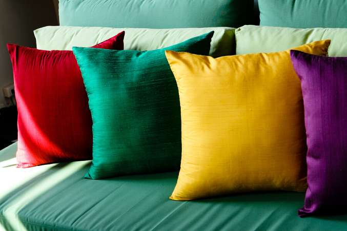 ColorfulPillowsonaCouch