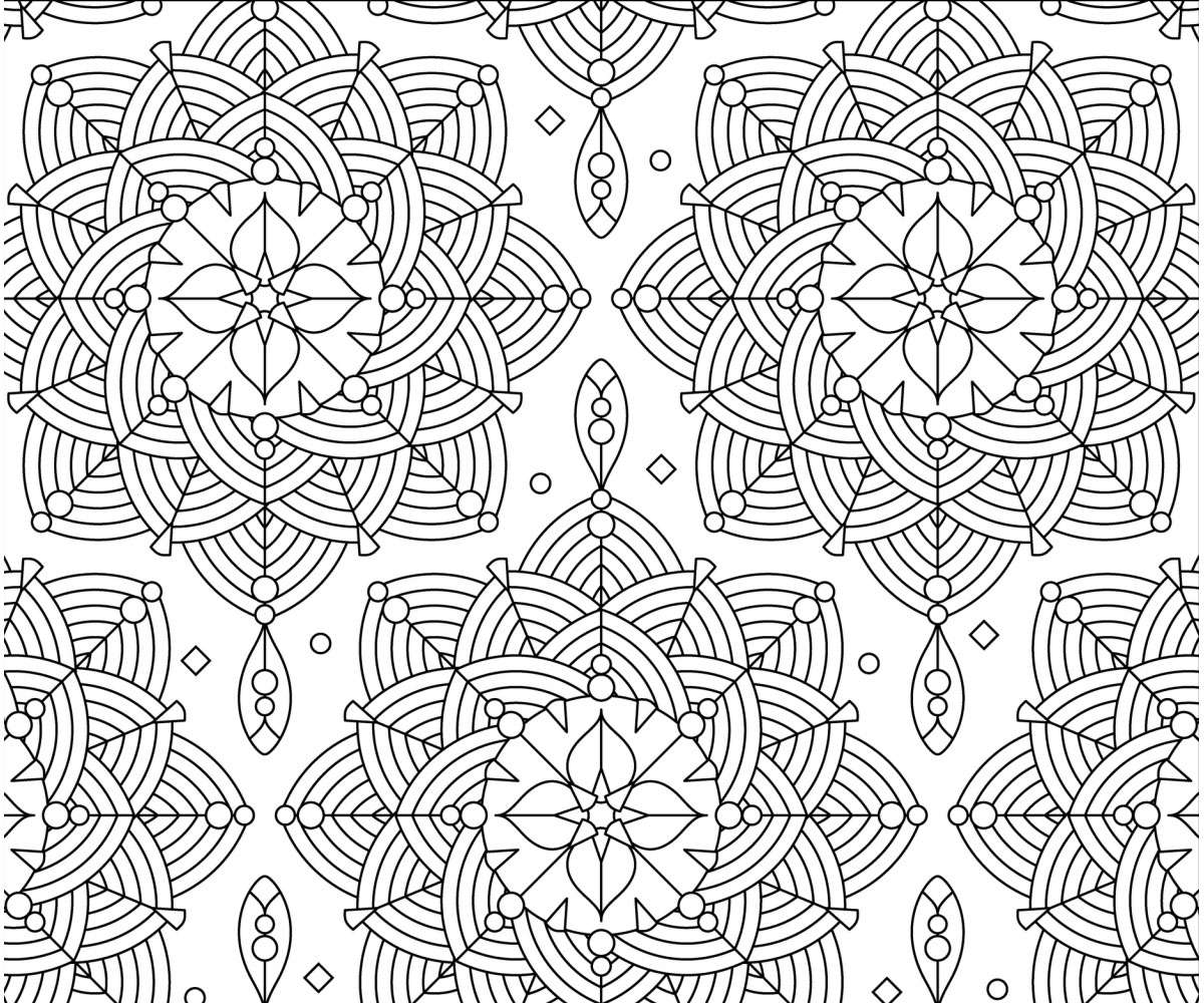 Flowers Printables Adult Coloring Page