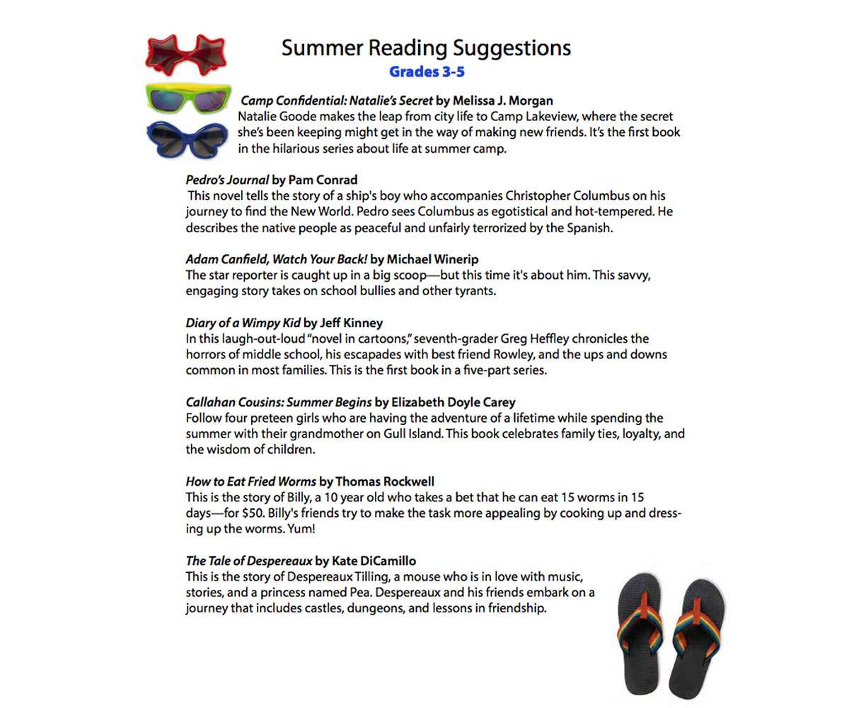 Worksheet Fourth Grade Stories language arts activities and printables for fourth grade summer reading guide 3 5