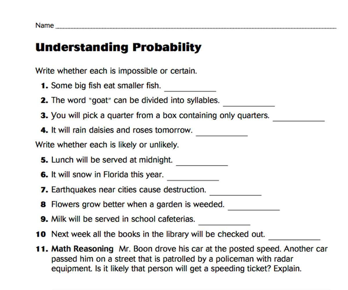General Math Printables - FamilyEducation