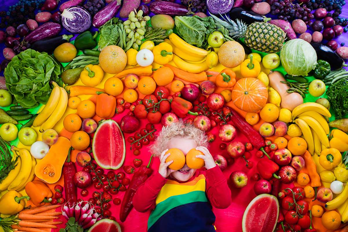 Eat a variety of fruits and vegetables for eye health