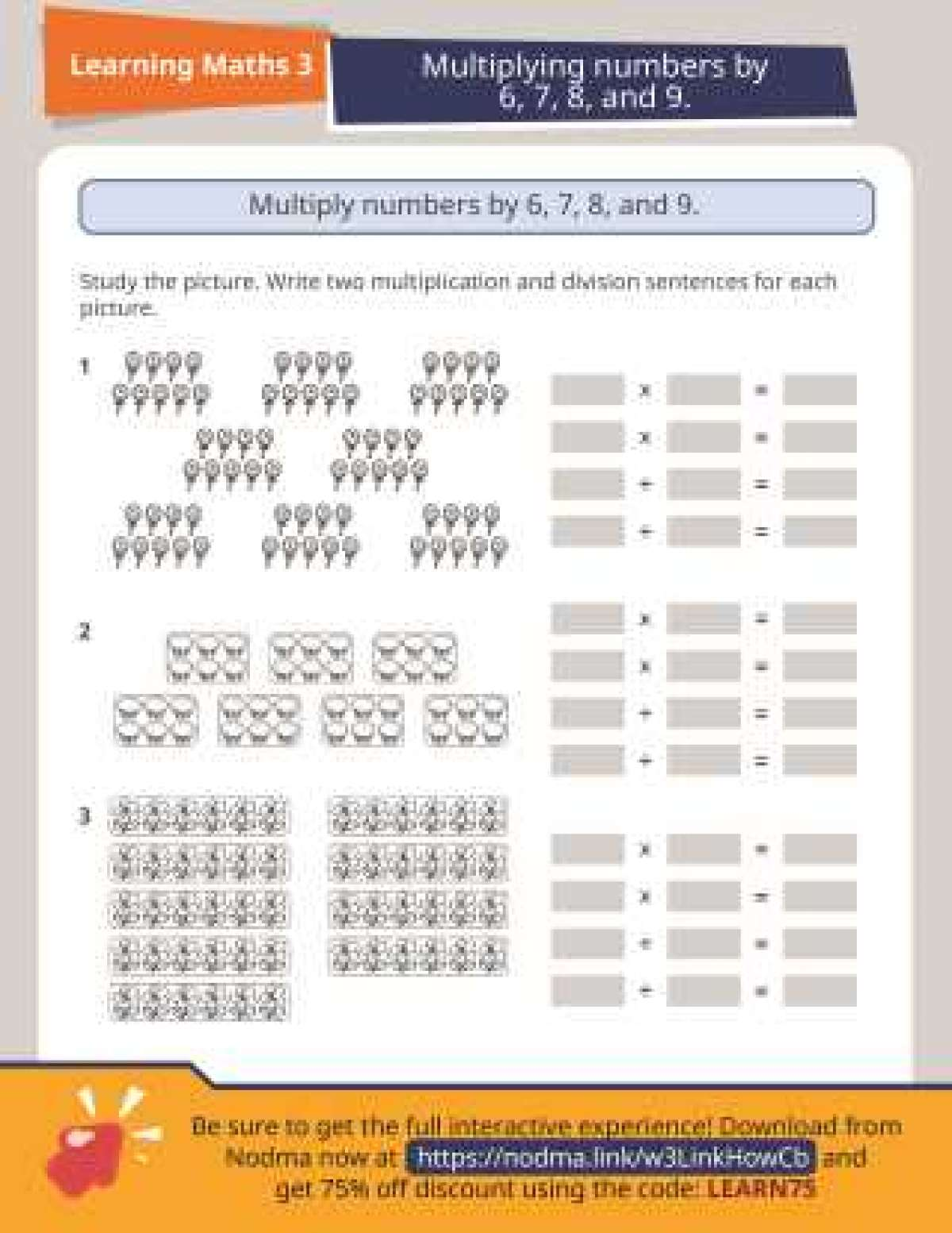 3rd Grade Math: Multiply and Divide by 6, 7, 8 and 9