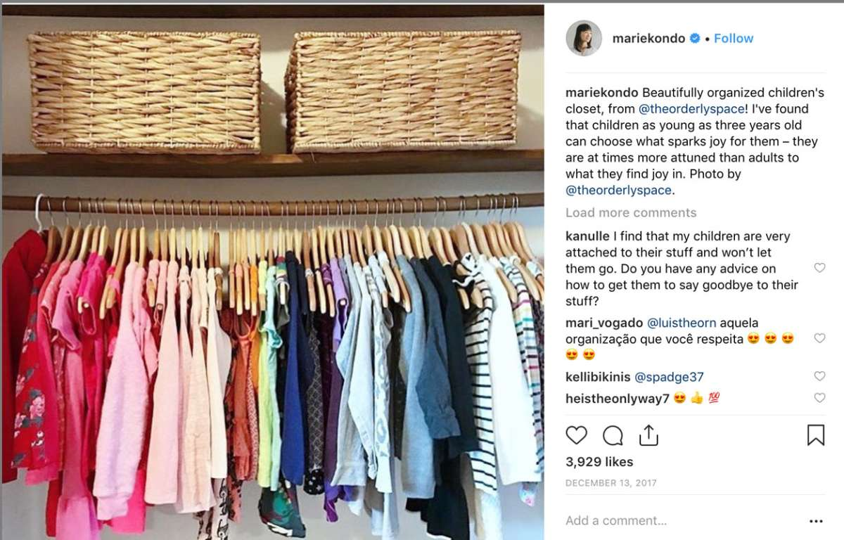 the konmari method for kids closet
