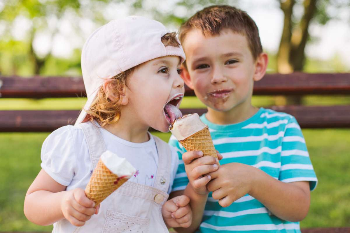 kids celebrating life's little moments with ice cream