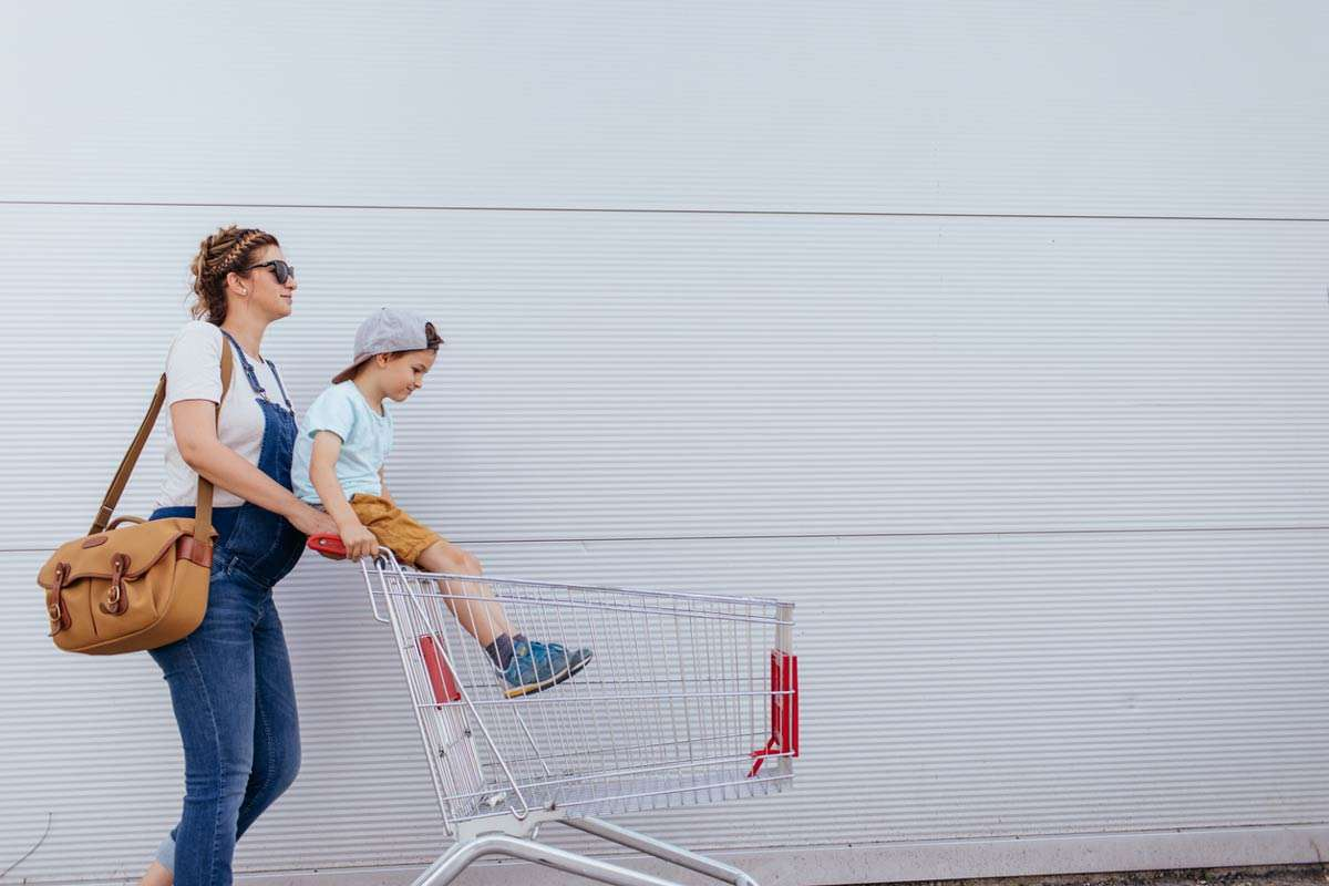 pregnant woman taking minimalist approach to baby shopping