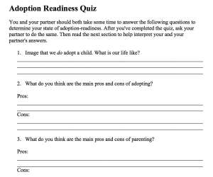 Adoption Readiness Quiz