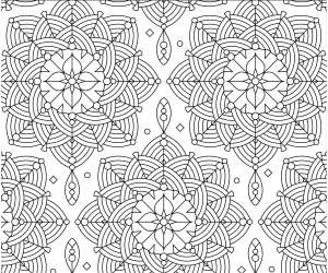 Adult Coloring Page - Rosettes