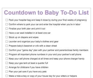 Countdown to Baby To-Do List