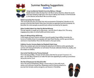 Summer Reading Guide 3-5
