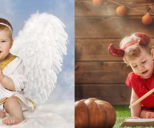 Angel and Devil Baby Halloween Costume
