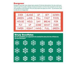 Evergreen Word Puzzle