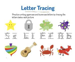 Trace the Letters for Star, Frog, and More