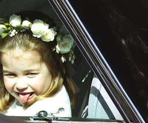 Princess Charlotte at Harry and Meghan's Wedding