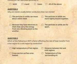 Quiz: Conduction and Transmission of Heat