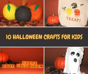 collage of Halloween crafts