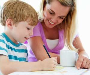 parent, child prepare for test
