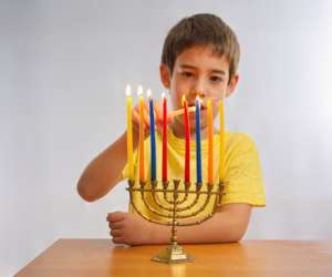 Homemade Hanukkah Menorah Activity for Kids